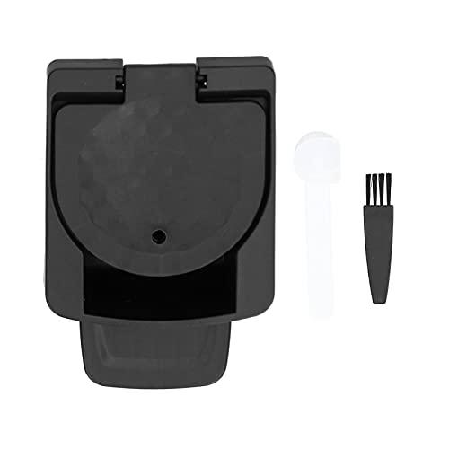 Adapter kapsułek wielokrotnego użytku, zapobiegający wyciekom wody uszczelniony i ciśnieniowy adapter kapsułek do kawy do ekspresu do kawy(black)