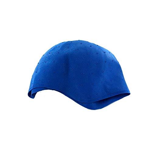 Sibel - Bonnet à mèches en caoutchouc bleu