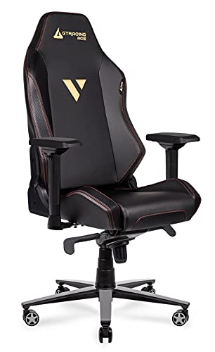 Gaming Chair 400 lb Weight Capacity Big and Tall High Back Computer Office Ergonomic Racing Chair Reclining Chairs with 4D Armrests Swivel Tilt Rocker Seat Height Adjustment Black GTRACING