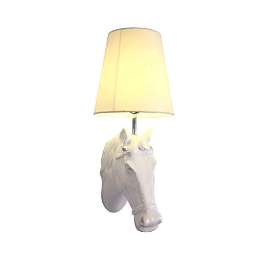 ZHAOHUIYING postmoderne paardenhoofd wandlamp persoonlijkheid creatieve TV wandlamp moderne minimalistische woonkamer eetkamer hardware slaapkamer bedlampje LED wandlamp