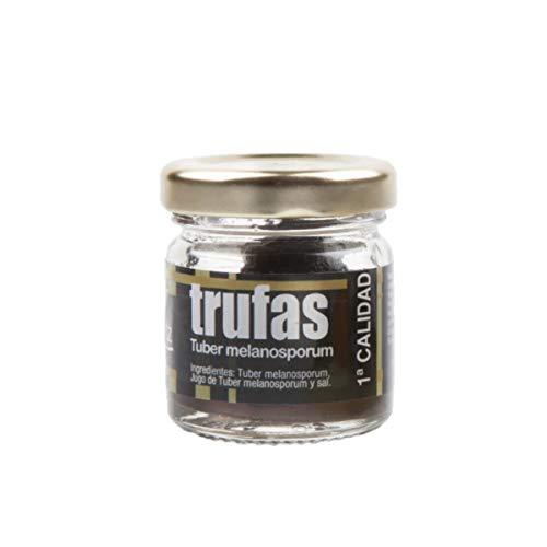 Exclusiver, echter ganzer schwarzer Winter - Trüffel der Spitzenklasse aus Spanien - in 1.Qualität - Tuber melanosporum - 12,5 g im Glas, Menge:1 Stück