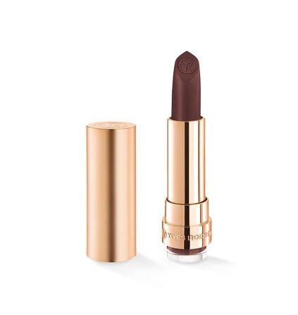 Yves Rocher COULEURS NATURE GRAND ROUGE Lippenstift Matt 151 Prune Profond, matter Lippenstift langanhaltend in Nude, 1 x Stift 3,7 g
