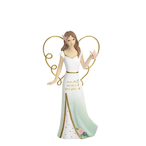 Pavilion Gift Company - Figura Coleccionable de ángel con Texto Aunt You Fill Our Lives with Love, Color Azul