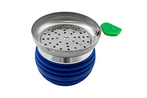 Shisha kop-shisha-schaal met metalen bodem - premium design - vlamvertragend silicone model PG-010 blauw