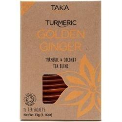 Golden Ginger Tea 15 Sachet by Taka Turmeric