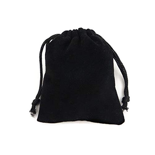 Haodou Negro Cordón de Terciopelo Bolsas de Viaje Almacenamiento Bolsas de Cordón Paquetes Bolsa Joyería Pendiente Collar Size 12 * 9CM