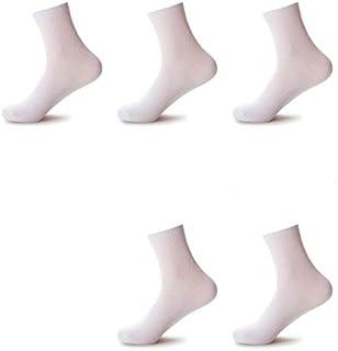 sunsiliang, para los Calcetines SSL 10 Pares Ocasionales de los Hombres de Negocios de algodón Calcetines de Hombre Marca de Zapatillas Calcetines (Negro) (Color : Blanco)