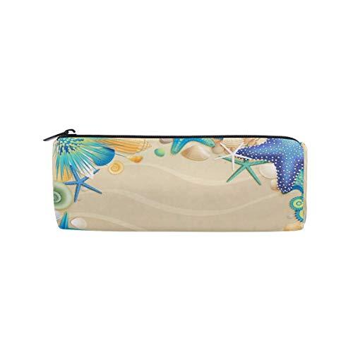 Federmäppchen, Strand, Flip-Flops, Muscheln, Reißverschluss, rechteckig, große Stifttasche, Studenten, Schreibwaren, Aufbewahrungstasche, Make-up-Tasche für Frauen