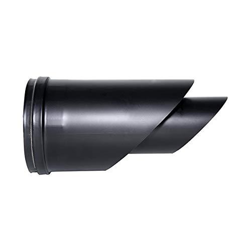 Terminal de combustión horizontal tubo coaxial negro estufa