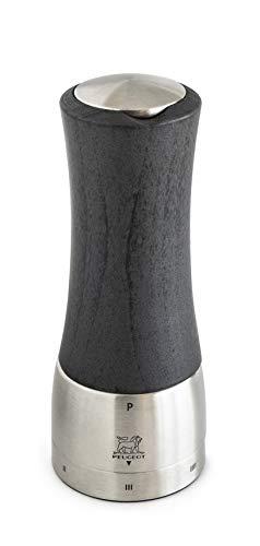 PEUGEOT manuelle Pfeffermühle u'Select aus der Serie Daman(ehemals Madras) mit einer Höhe von 16cm, aus Holz und Edelstahl, 39462 Graphit