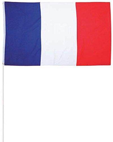 Katerina Prestige- Drapeau France 30x40 avec batonnet, DRA058