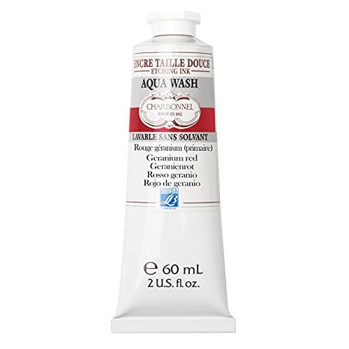 Charbonnel Aqua Wash Etching Ink - Geranium Red 60ml Tube