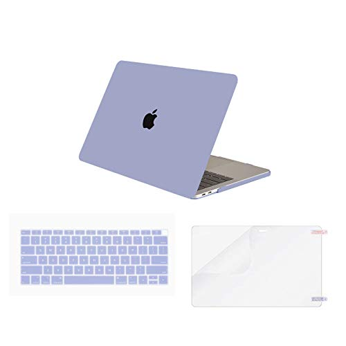 Olort Case Compatible MacBook Air 13 inch 2020 2019 2018 Release A2179 A1932, Plastic Hard Shell Case & Keyboard Cover & Screen Protector for Mac Book Air 13 Laptop (Lavender Purple)
