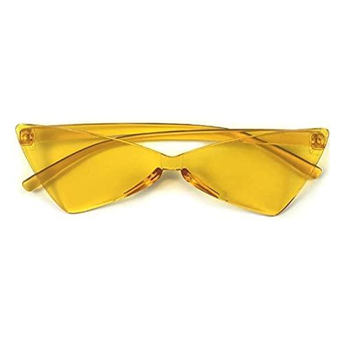 SLAKF Gafas duraderas Sexy Gato Ojo Gafas de Sol Mujeres Marca de diseñador Espejo Negro triángulo Gafas de Sol Tonos Femeninos para Damas UV400 (Lenses Color : Orange)