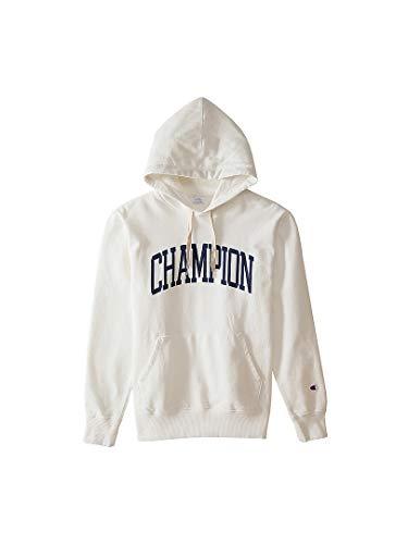 [チャンピオン] パーカー フーディー スウェット 裏毛 綿100% グラフィックロゴプリント フーデッドスウェットシャツ C3-N114 メンズ オフホワイト M