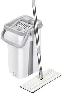 Kit Complet Balai Clean 360°, Lingette Microfibre Et Seau (Blanc)