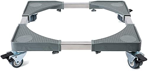 WXking Base Regolabile Mobile Multifunzionale con Ruote girevoli in Gomma di bloccaggio 4 × 2 Fino a 50 0KG. per asciugatrice, Lavatrice e Frigorifero