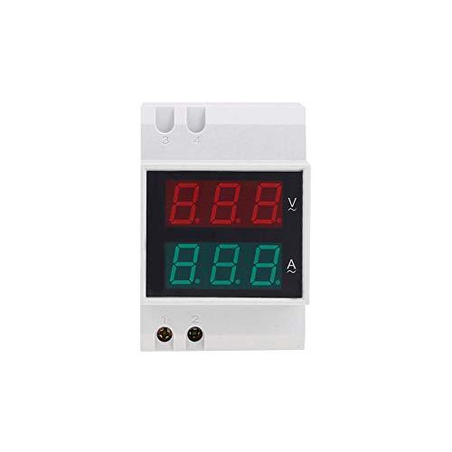 YaptheS AC Voltaje Actual de la Industria del medidor D52-2042 Carril DIN amperímetro del voltímetro Digital AC80-300V eléctrico V Un probador Blanca