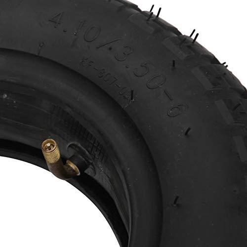SUCIE Neumático 4.10/3.50‑6, neumático inflado para cortacésped Fácil y Conveniente de Instalar para carros para cortacésped para carretillas