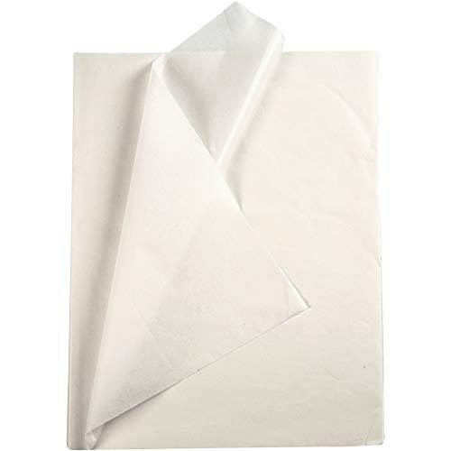 OSCrea Seidenpapier weiß - Seidenpapier zum Basteln und zur Dekoration. 50 x 70 cm, 14gm, 25 Blatt.