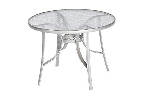 Merxx Gartentisch rund Ø 100 cm Aluminiumgestell