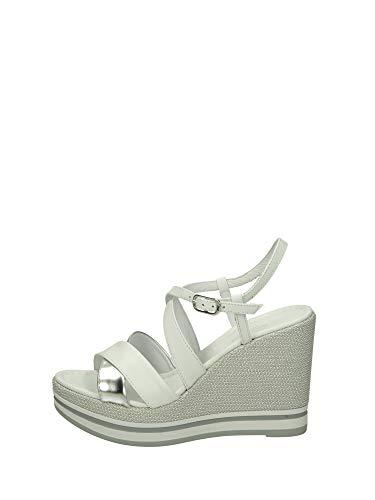 Sandalo da Donna NeroGiardini in Pelle Bianco E012460D. Scarpa dal Design Raffinato. Collezione Primavera Estate 2020. EU 37