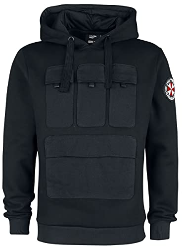 Resident Evil 3 - UBCS Hombre Sudadera con Capucha Negro M, 60% algodón, 40% poliéster, Regular