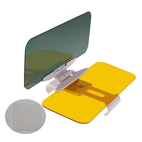 LILIONGTH Car Sun Visor Goggles 2 in1 Day and Night Anti-Glare Windshield Mirror Interior Kits