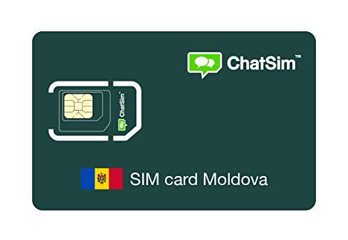 Tarjeta SIM internacional para viajes a MOLDAVIA y en todo el mundo – ChatSim – cobertura 165 Países, roaming global – red multioperador GSM/2G/3G/4G, sin costes fijos