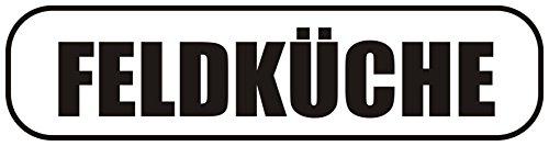 INDIGOS UG - Magnetschild Feldküche 30 x 8 cm - Magnetfolie für Auto/LKW/Truck/Baustelle/Firma