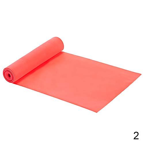 Hui JIN Bandas de ejercicio de resistencia para mujeres y hombres, ideales para entrenamiento de fuerza, yoga, pilates rojos, 2 bandas