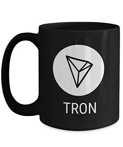 Officiell Tron Cryptocurrency stor mugg akryl kaffehållare svart 325 ml kryptovuvarbetare blockkedja investering handel köp sälj Hold TRX