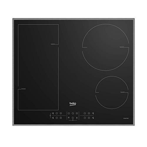 Beko Induktions Kochfeld HII 64200 FMTX/Flexibles Kochfeld für alle Ihre Töpfe und Pfannen/Einfach anpassbarer maximaler Stromverbrauch/5,2 x 58 x 51 cm, Schwarz