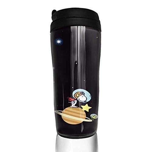 Astronaut Snoopy Kaffeebecher Travel Mug Thermobecher Isolierbecher Doppelwandig Isolierung Kaffeetasse