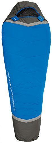 ALPS Mountaineering Aura +35 Degree Mummy Sleeping Bag, Long, Blue/Grey