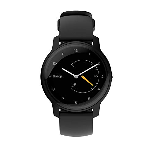 Withings Move - Activity Tracking Watch, 38mm, Black & Yellow, Model:3700546705441