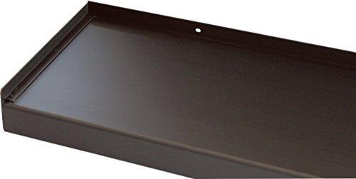 Vensterbank, vensterbank 380 mm diep - zilver, wit, donkerbrons, antraciet (zonder zijdelen) 1800 mm Donkerbrons