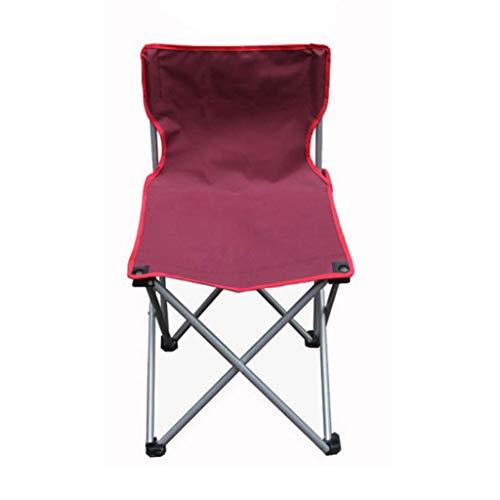 DJX Silla Plegable para Acampar al Aire Libre, Pesca en la Playa y Silla Plegable para Acampar - Soporte de Tubo de Acero, Tela de Tela Oxford, Fuerte y Duradero, cojinete de Carga 150 kg