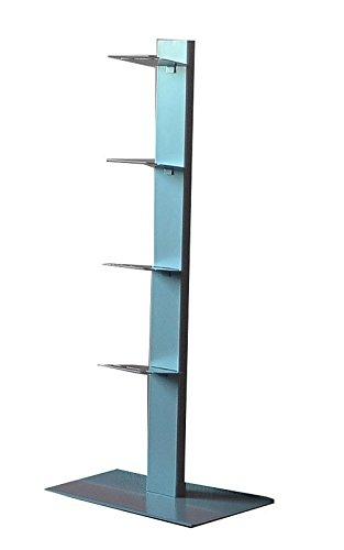 Radius Design booksbaum Single Stand klein Silber, 3tlg. Best.aus: Halterung + Fuß + Einlegeböden [W]