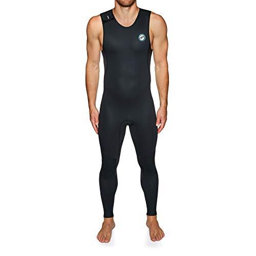 Prolimit Mens 1.5mm Sup Stand Up Paddle Boarding Airmax Long John Wetsuit - Negro Azul - Paneles ventilados Airmax