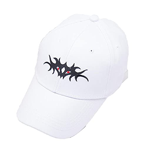 YDXC Gorra de Hip-Hop Unisex con Bordado 3D Ajustable Saliendo Sombrero de Sol Sombrero de algodón Salvaje Flap Sombrero-White_02_Adjustable