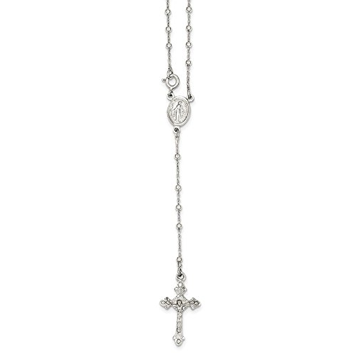 925 Sterling Silver Rosary Chain Necklace Pendant Charm Fine Jewelry For Women Gifts For Her