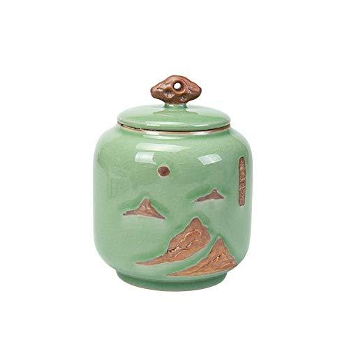 XinXinFeiEr Regalo Urna Memoriales cremación urna for Las Cenizas Humanos urnas funerarias en la funeraria Urna Comfort Pequeño Hermoso (Color: Azul) Hermoso (Color : Green)
