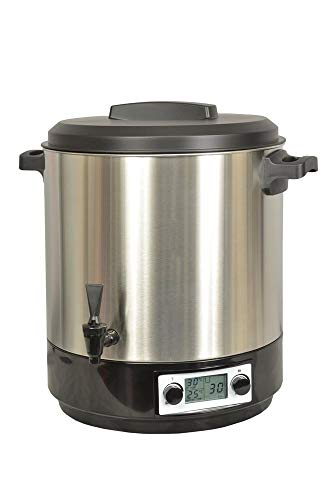 Kitchen chef - kcpst31lcd.ix - Stérilisateur électrique lcd avec robinet et minuteur 31l 2000w inox