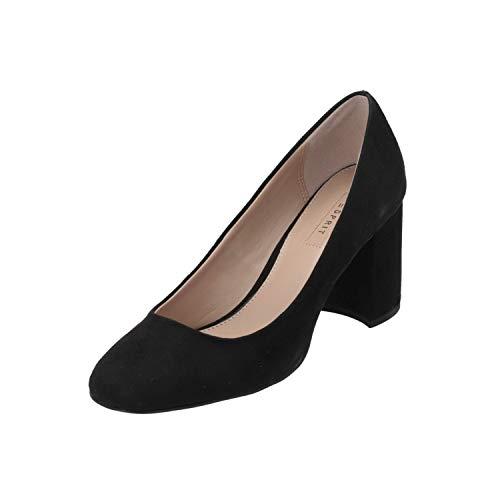 ESPRIT Marilla Pump Damen Pumps Schwarz High-Heels Stilettos Absatz-Schuhe, Größe:EUR 38 (UK 5)