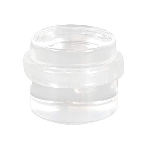 WAGNER Butoir de porte CLAIR - Diamètre Ø 38 x 22 mm, à coller au sol ou au mur, corps en plastique de haute qualité, protection contre les chocs en caoutchouc thermostatique - 15502911