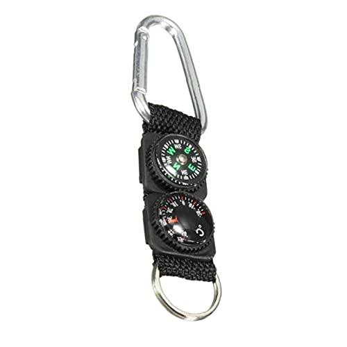 Mini Paquete De Brújula De Supervivencia De Camping Al Aire Libre Senderismo Pockets Compass Líquido Mini Compás para Pulsera Collar Llavero Negro