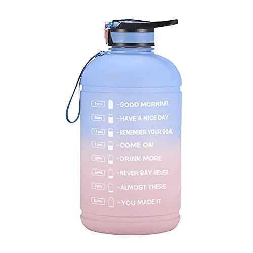 Botella de bebidas para hombres y mujeres Deportes Botella de agua Big Jug Gym Keg School Drinking Big Jug Matte Gradient 1 Galón