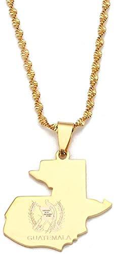 WYDSFWL Collar de Acero Inoxidable Antigua Tarjeta Colgante Collares Color Oro Antigua Tarjeta Cadena joyería Regalos Regalo