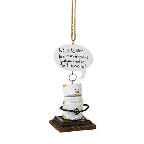 Midwest Gift Toasted S'Mores We go Together Like Marshmallow, Graham Cracker and Chocolate! Ornament.
